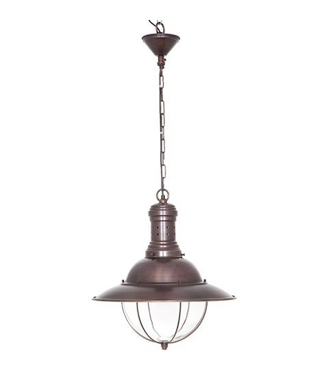 Harrison Hanging Lamp in Silver or Copper Finish