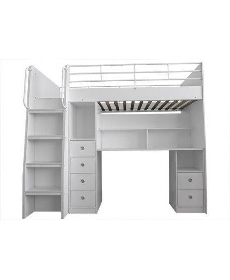 Neptune Loft Bed with Stair Drawer and Desk