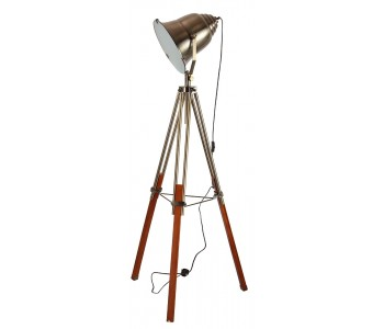 Antique Brass Spotlight Floor Lamp