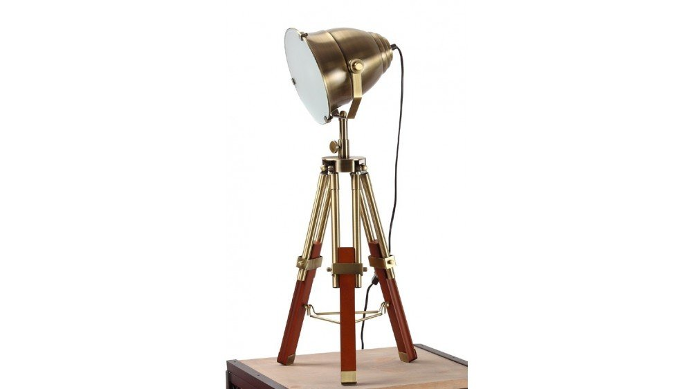 Antique Brass Spotlight Table Lamp