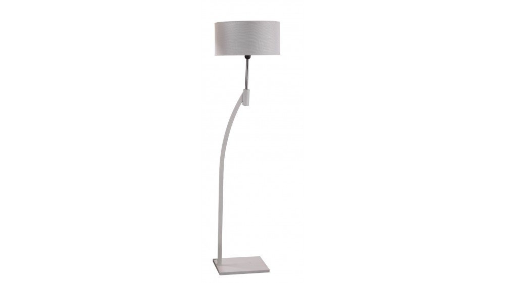 Turos Floor Lamp In Black Or White
