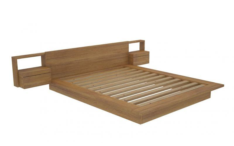 Vegas custom timber platform bed frame for Custom made bed frame
