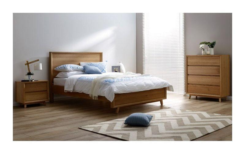 springwood tas oak bed frame with suite options - Oak Bed Frame