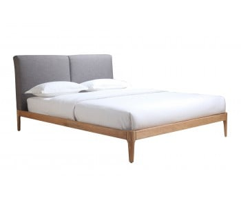 Letti Upholstered Double Bed Frame with Timber Frame