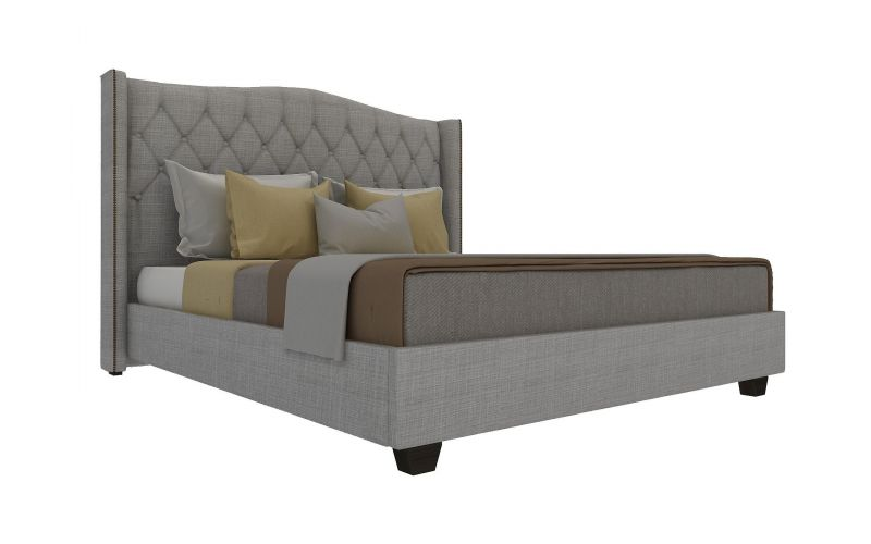 Newport custom fabric bed frame for Exotic bed frames