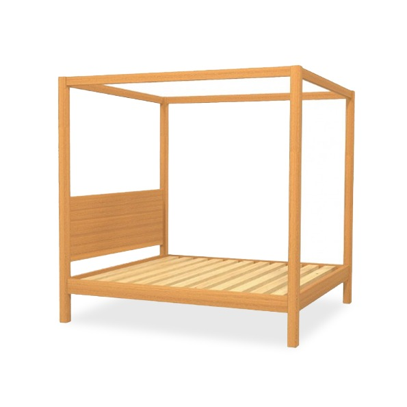 Cube Custom Four Poster Timber Bed Frame