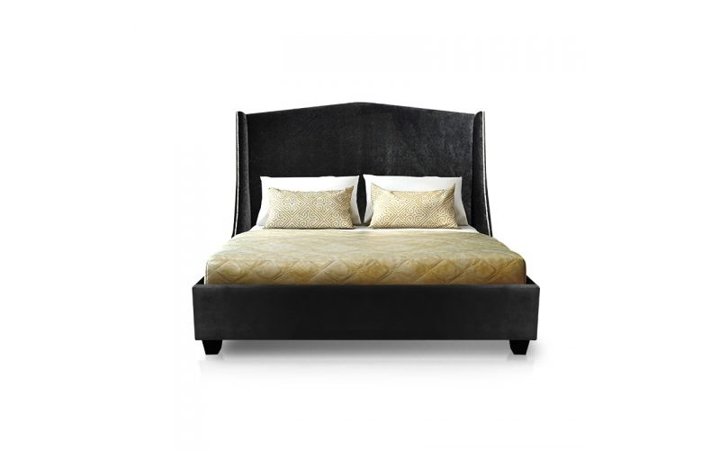 Curved Wing Custom Padded Bed Frame