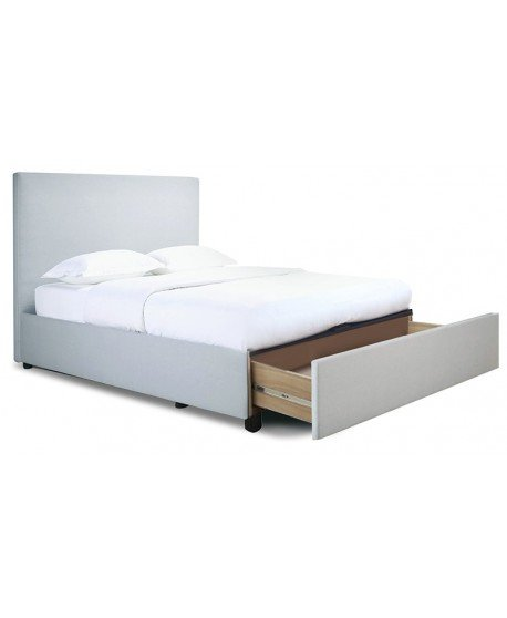 Navada Fabric Bed Frame with Straight Slats & Drawers