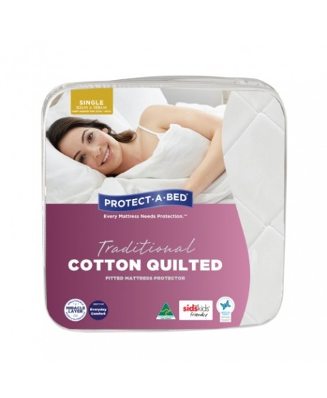 Traditional Cotton Quilted Fitted Waterproof Mattresses