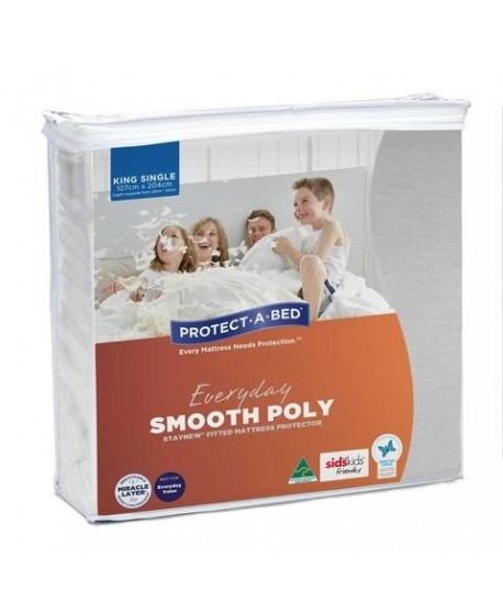 Everyday Smooth Polyester Fitted Waterproof Mattress Protector