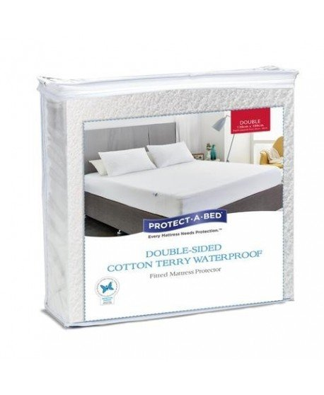 Double-Sided Terry Mattress Protector- Fully Encased