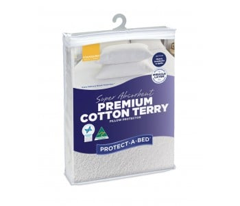 Protect-A-Bed Super Absorbent Premium Cotton Pillow Protectors