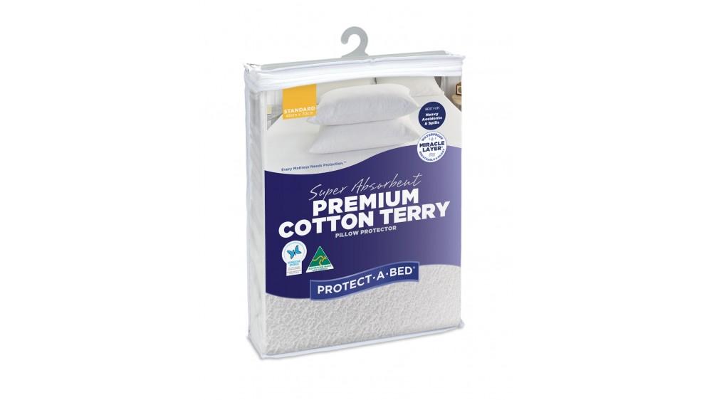 Protect-A-Bed Super Absorbent Premium Cotton Pillow Protectors