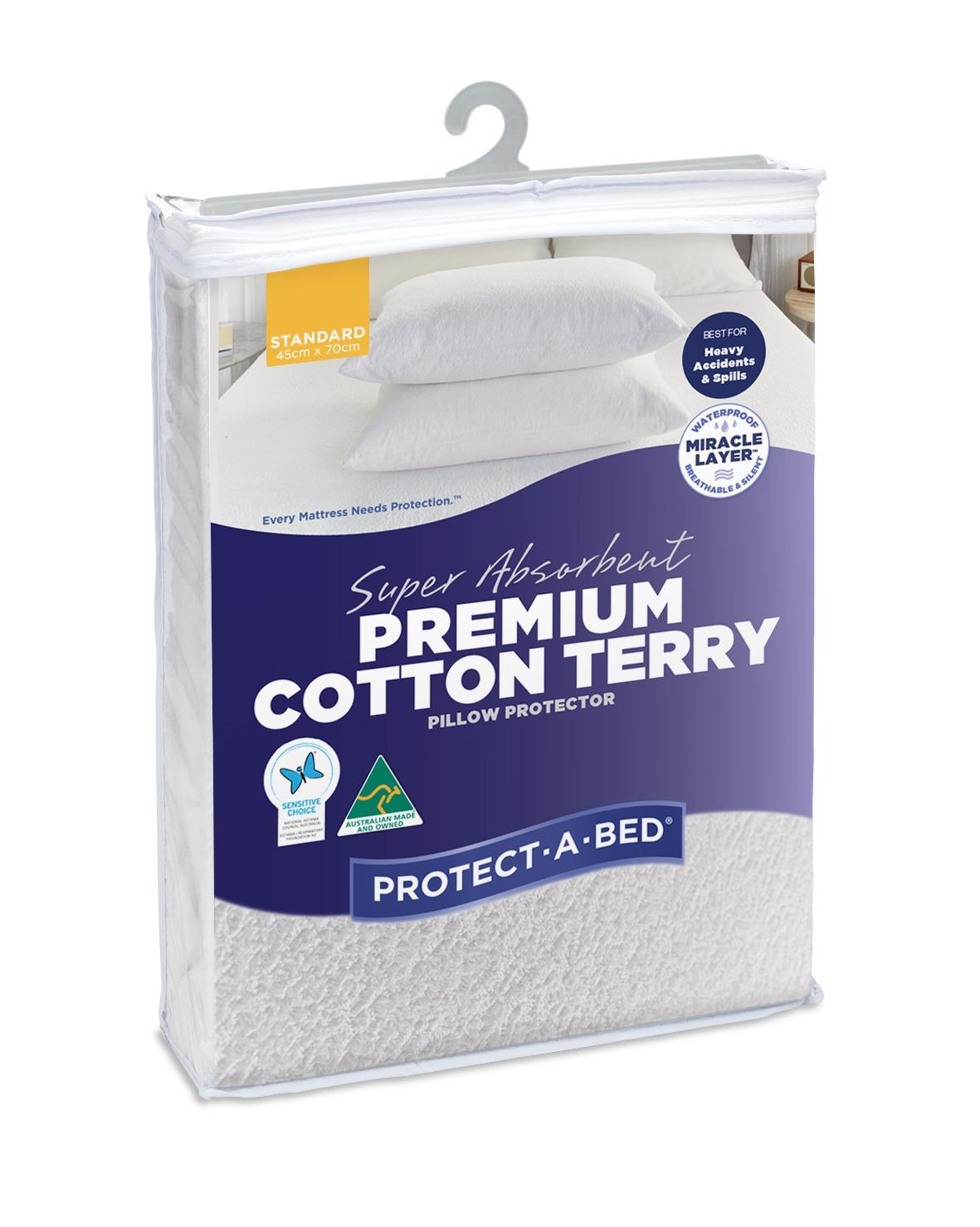 Protect A Bed Super Absorbent Premium Cotton Pillow Protectors