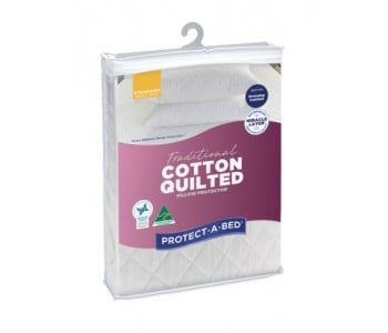 Protect-A-Bed Traditional Cotton Quilted Pillow Protector