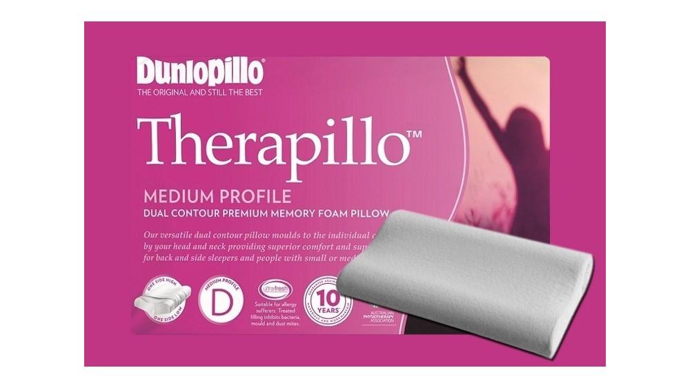 Therapillo Premium Memory Foam Medium Profile Dual Contour Pillow