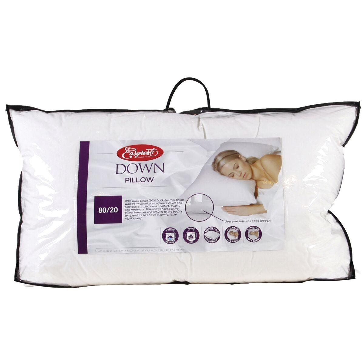 Easy rest duck feather pillow european sizeeasy rest duck for Best king size down pillows