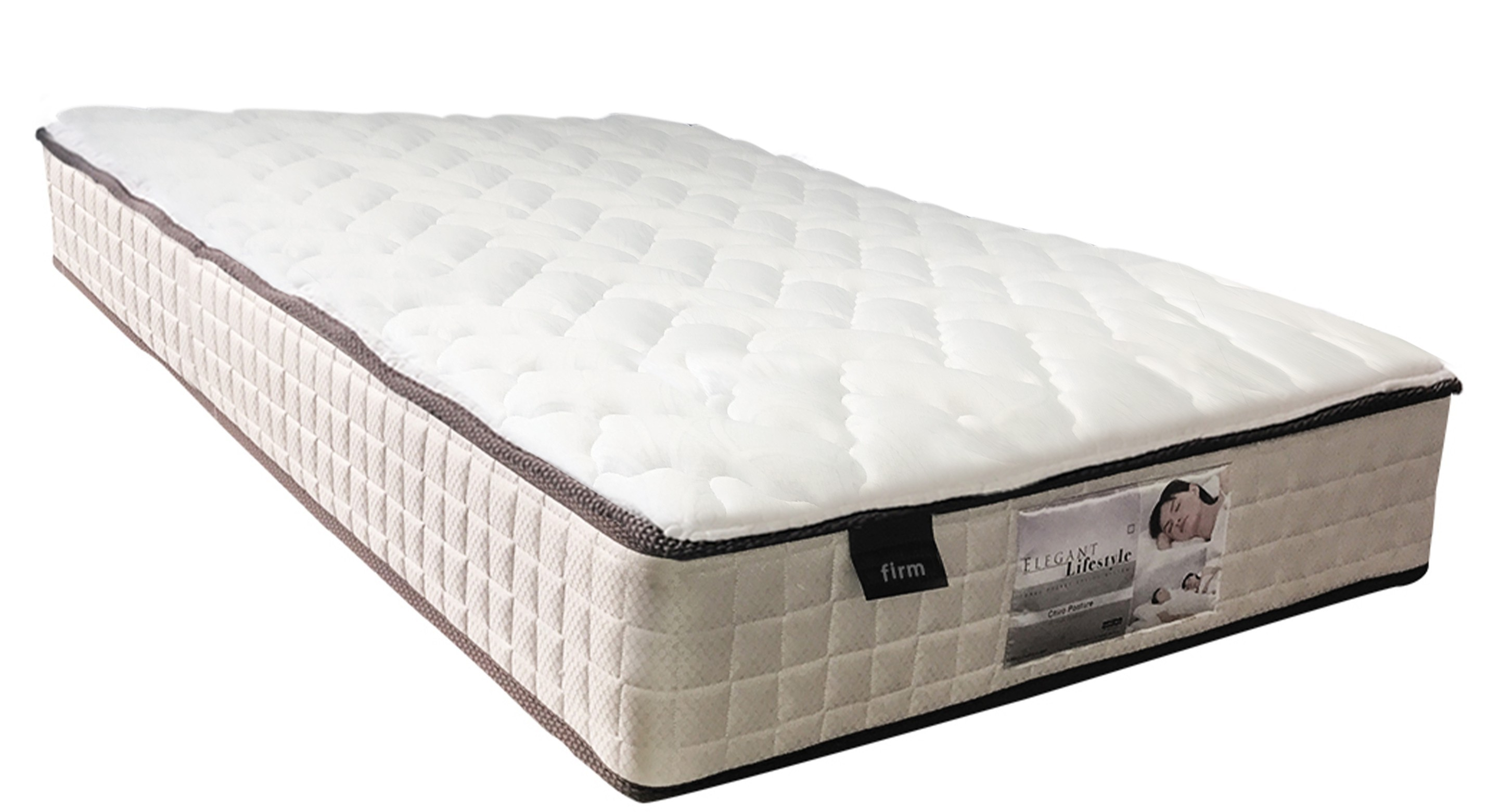 Comfort sleep chiro posture pocket spring firm mattress for Comfort inn mattress brand