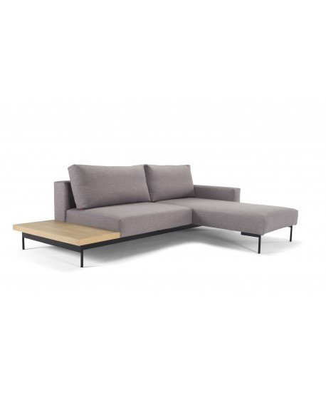 Bragi Chaise Sofa Bed With Side Table - Innovaiton Living