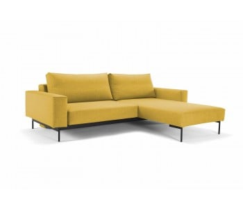 Bragi Chaise Double Sofa Bed With Arms