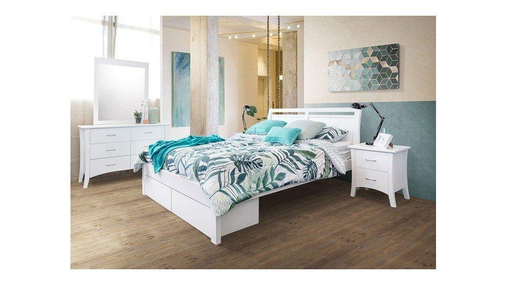 Ella 2 Drawer Timber Bed Frame - Suite Option