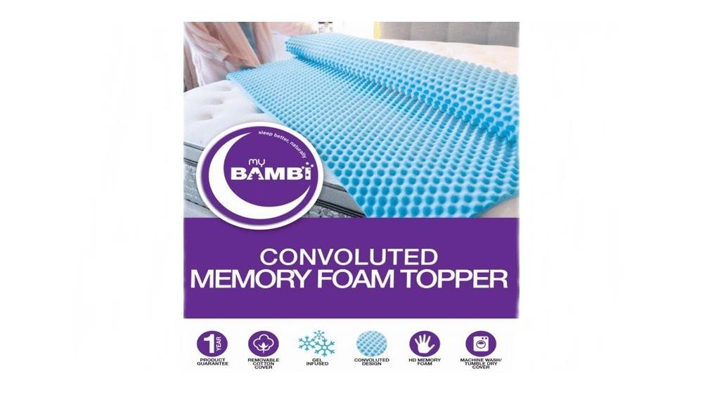 Convoluted Memory Foam Topper