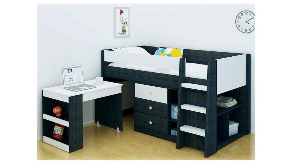 Reagan Kids Storage Loft Bed