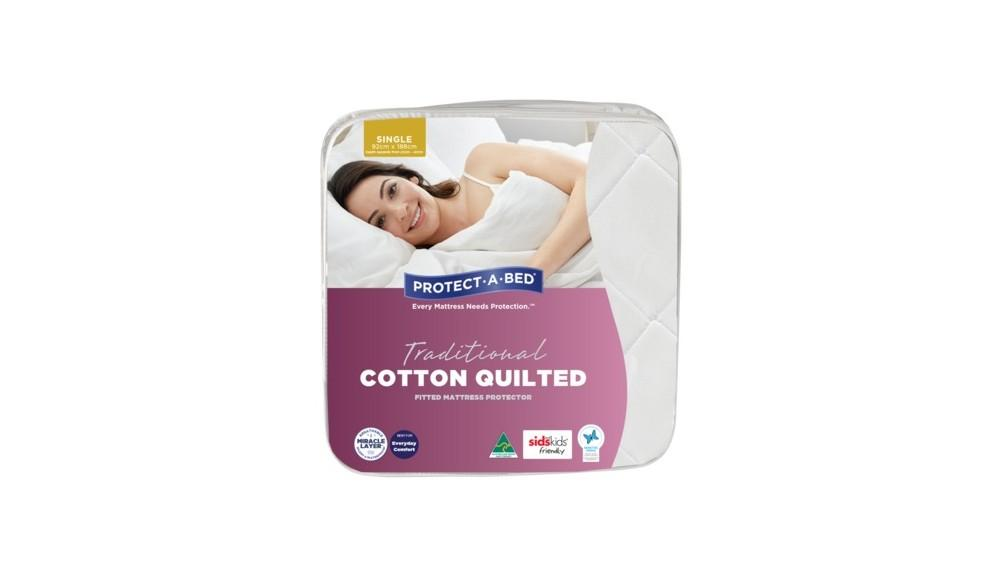 Traditional Cotton Quilted Fitted Waterproof Mattress Protector