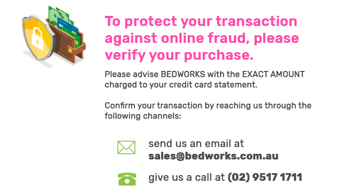 To protect your transaction against online fraud, please verify your purchase.