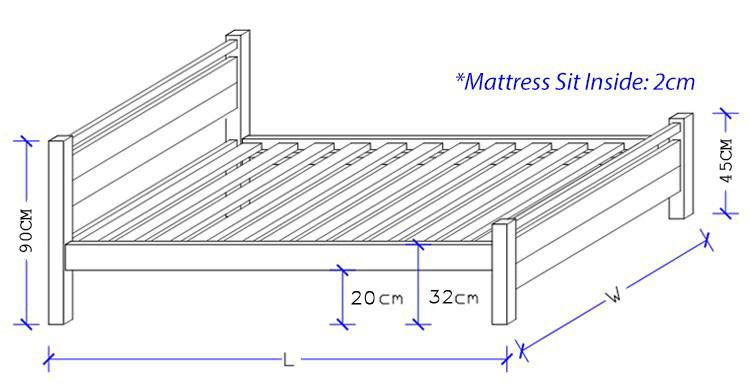 Majorca Timber Bed Frame - Custom Design