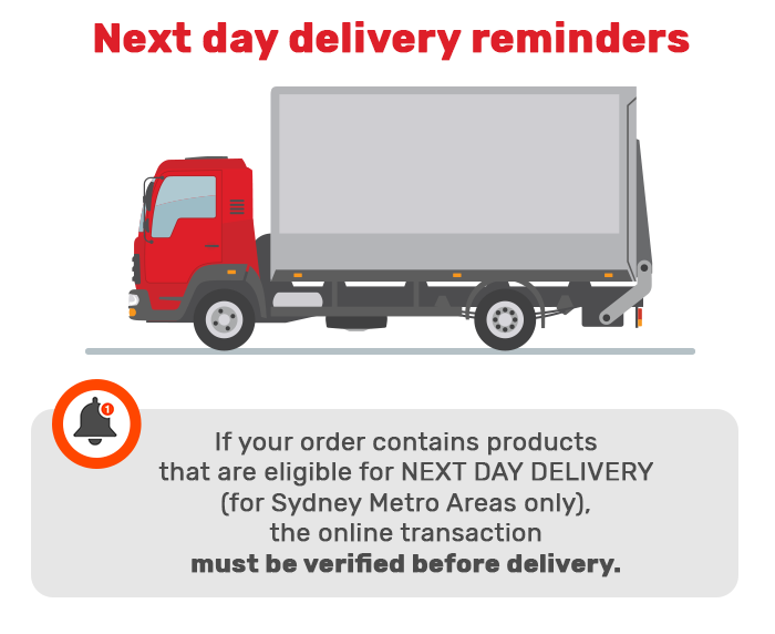 next day delivery reminders