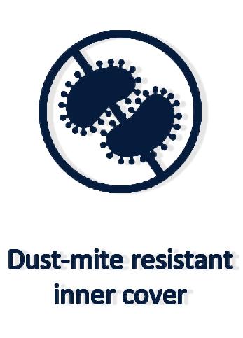 Dust-mite resistant inner cover