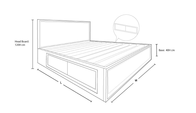 Clempton custom timber storage bed frame