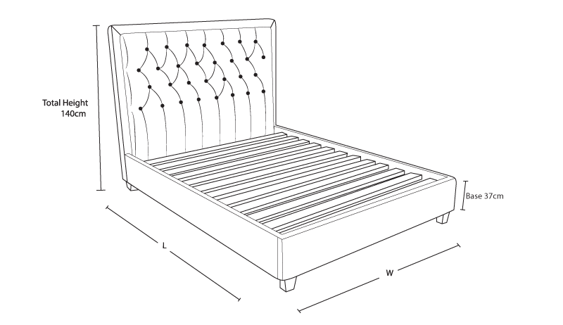 BW_Helios_Custom_Upholstered_Bed_Frame_demensiondrawing_3122018