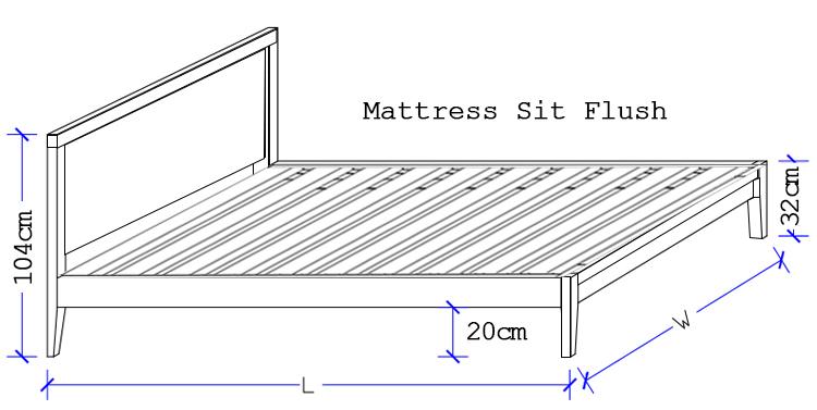 Oxford Custom Timber Bed - Sit Flush