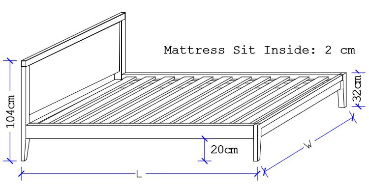 Bedworks Custom Timber Bed - Oxford Custom Timber Bed Sit Inside