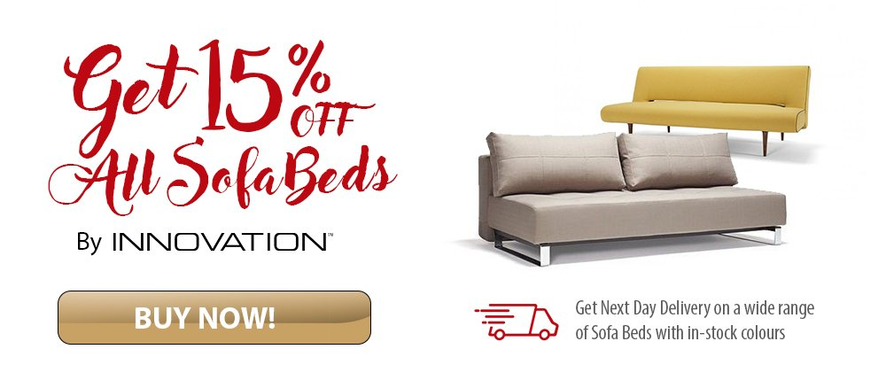 15% OFF All Danish Designed Sofa Beds by Innovation Living