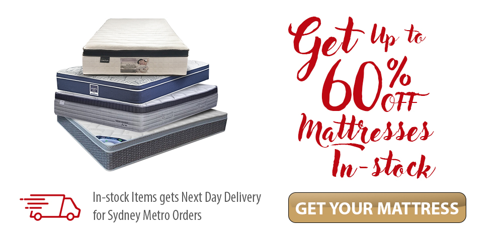Up to 60% OFF Mattresses in-stock and ready for delivery!