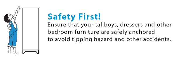 Tipping Hazard Warning - Tall Furniture