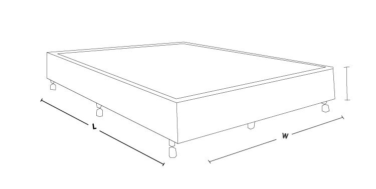 AHBeard Iceland Bed Base Dimension Drawing - Know the size