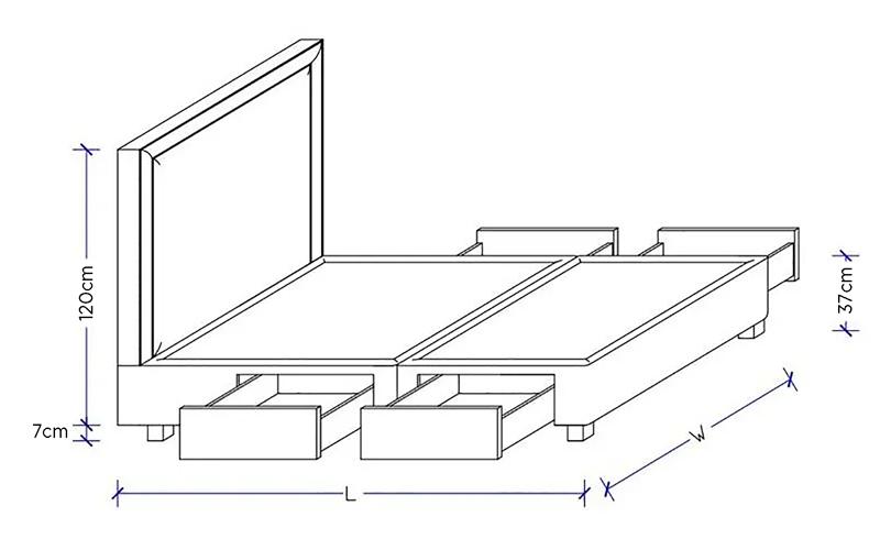 Astor Dimensional drawing