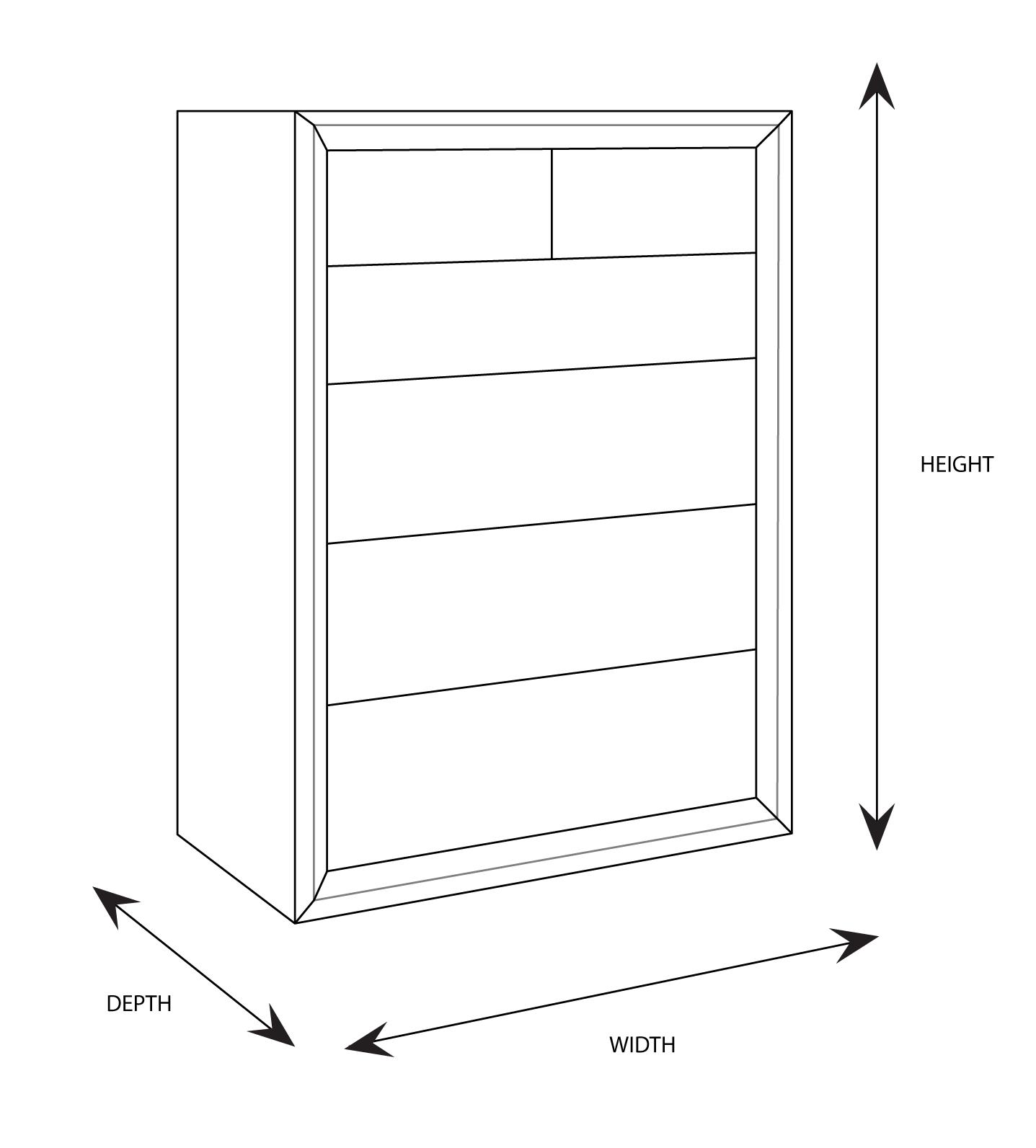 Clempton Tallboy Dimensional Drawing