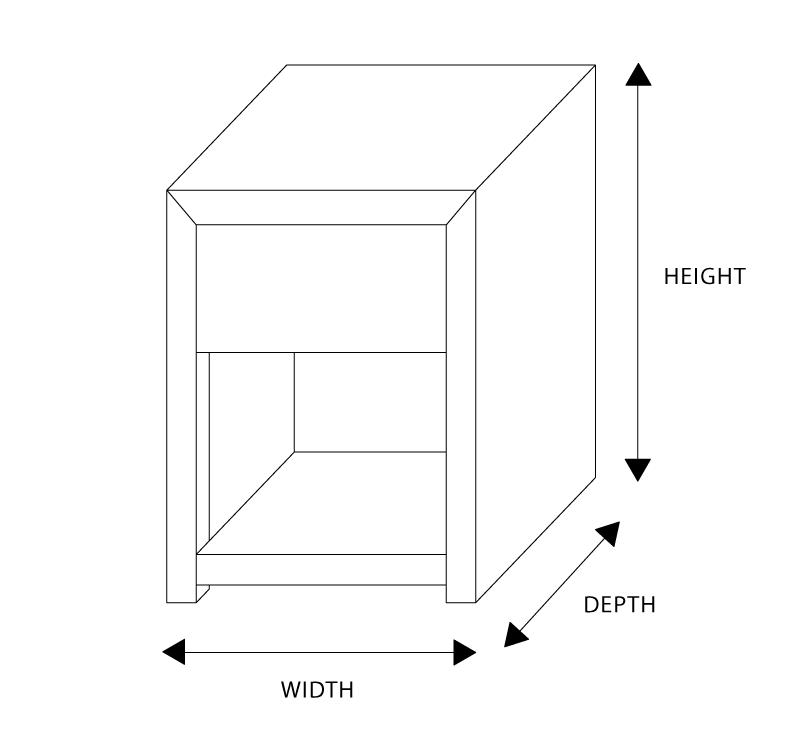 Natash Custom Timber Drawer Bedside Table