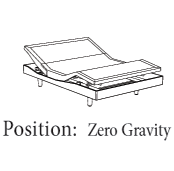 OSO adjustable bed Zero G Position - OSO Adjustable Base can ease the bed pain and snore - Zero Gravity Position