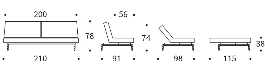 Bedworks Sofa Beds - Oldschool King Single Sofa Bed