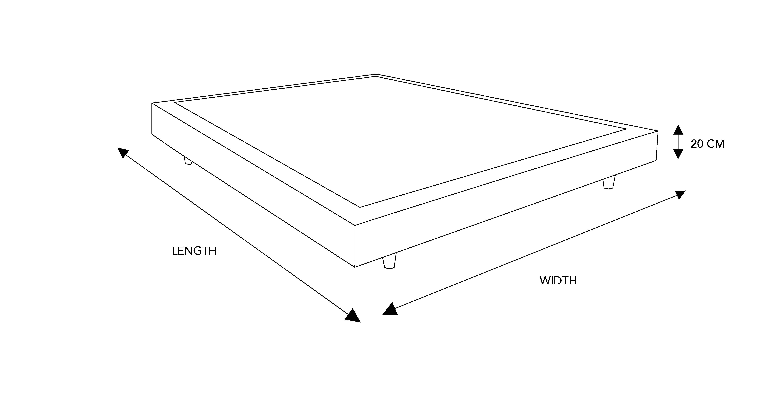 Recess dimensional drawing