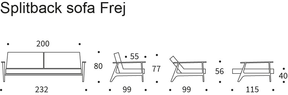 Bedworks Sofa Beds - Splitback Frej King Single Sofa Bed