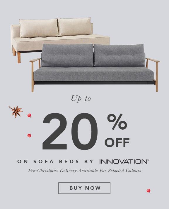 Pre-Christmas Super Deals - Get 15% OFF Danish Designed Innovation Living Sofa Beds. Expand your living space!