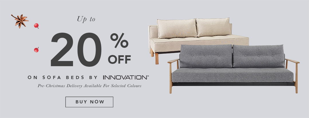 Pre-Christmas Super Deals - Get 20% OFF Danish Designed Innovation Living Sofa Beds. Expand your living space!