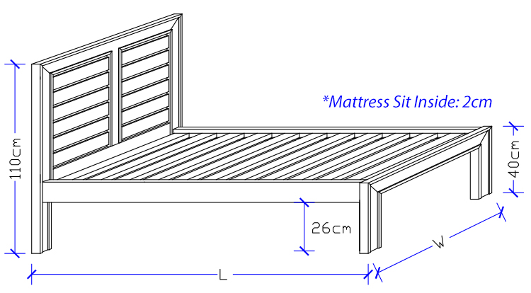 Custom Timber Bed Frame Dimensions